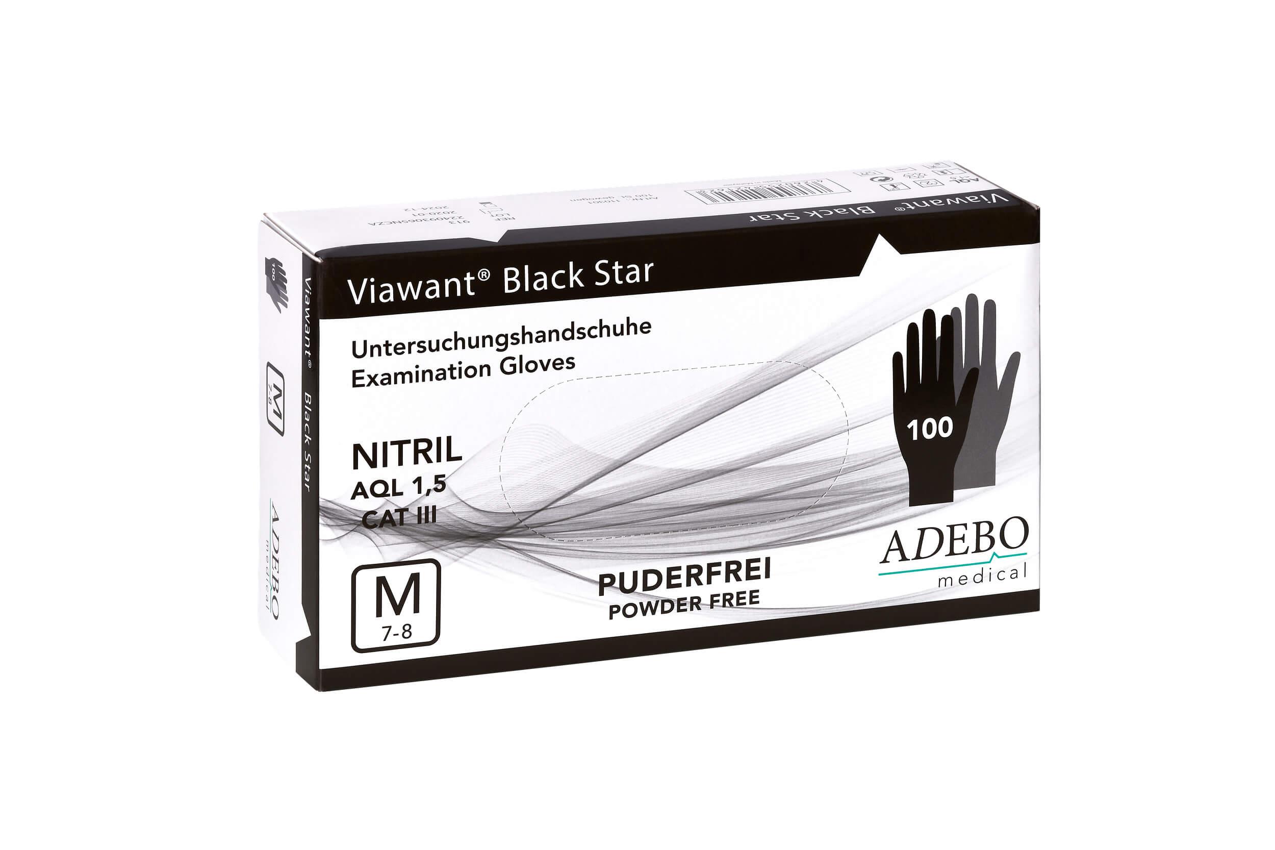 Viawant Black Star - Einmalhandschuhe aus Nitril