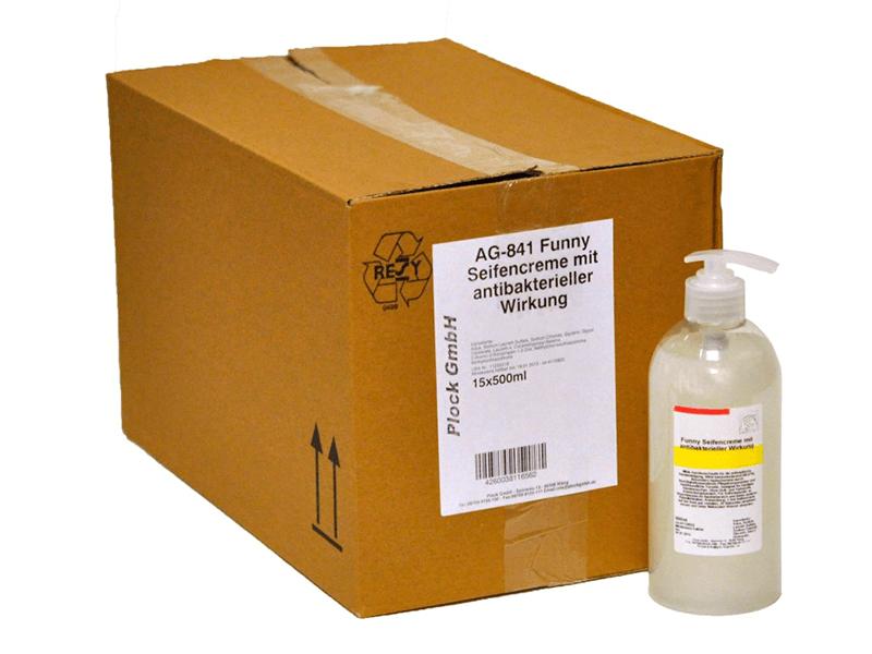 Antibakterielle Seife in Pumpflasche