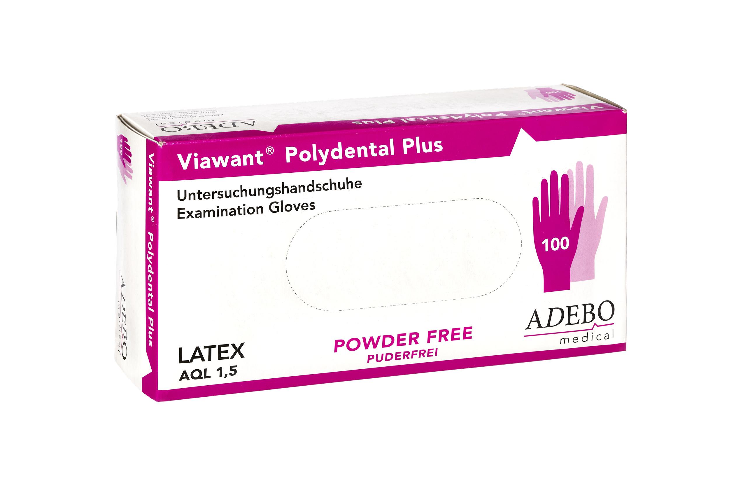 Viawant Polydental Plus - Einmalhandschuhe aus Latex