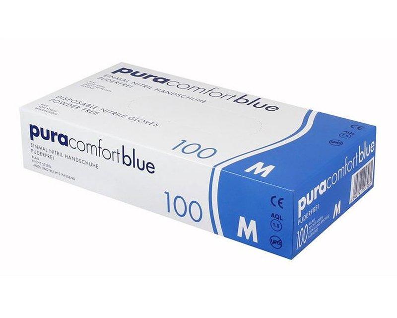 Pura Comfort blue - Einmalhandschuhe aus Nitril