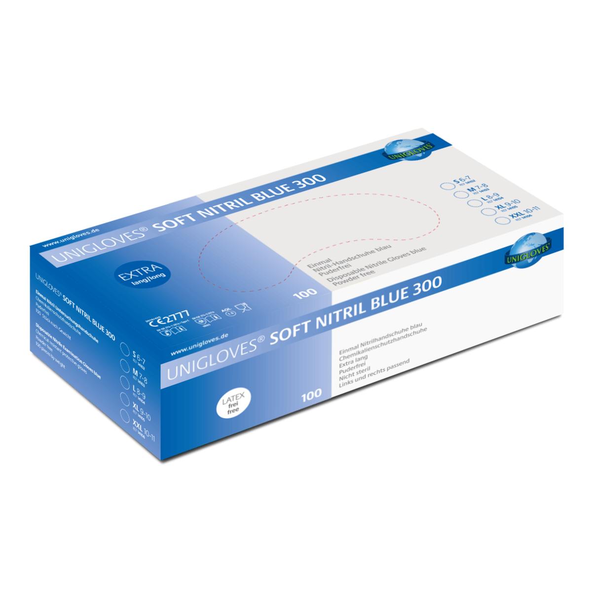 Unigloves Soft Nitril Blue 300